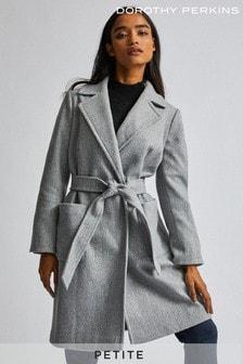 Dorothy Perkins Petite Patch Pocket Wrap Coat