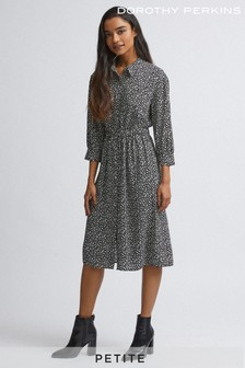 Dorothy Perkins Petite Pebble Print Shirt Dress