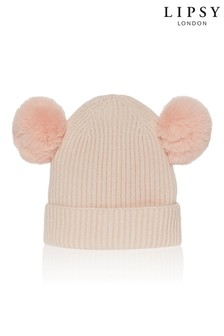 Lipsy Girl Double Pom Beanie