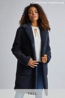 Dorothy Perkins Tall Long Teddy Coat