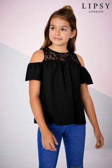 Lipsy Girl Lace Yoke Top