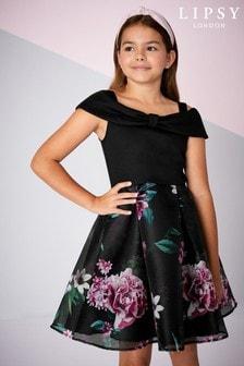 Lipsy Girl Bow Detail Cold Shoulder Dress