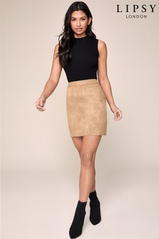 Lipsy Suedette Mini Skirt