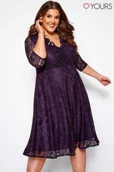 Yours Curve All Over Lace Dress