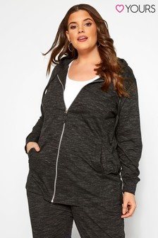 Yours Curve Zip Through Hoodie