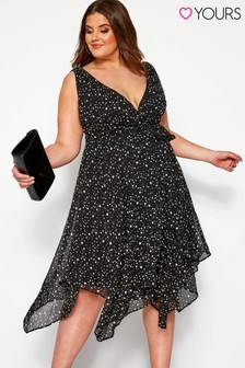 Yours Curve Star Wrap Hanky Hem Dress