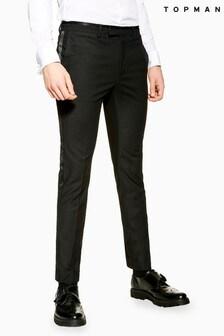 Topman Skinny Fit Suit Tuxedo Trousers