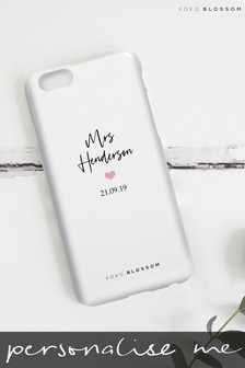 Personalised Lipsy 'Mrs' Phone Case By Koko Blossom
