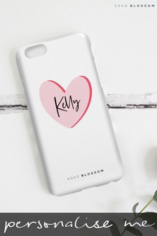 Personalised Loveheart Phone Case By Koko Blossom