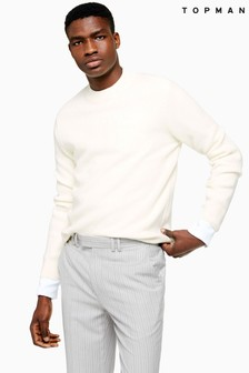 Topman Twisted Textured Turtle Neck Jumper