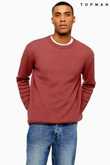 Topman Lightweight Textured Crew Jumper