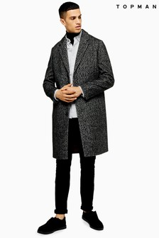 Topman Herringbone Coat