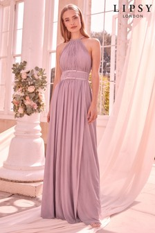 Lipsy Heather Mesh Maxi Dress