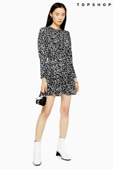 Topshop Austin Long Sleeve Mini Dress