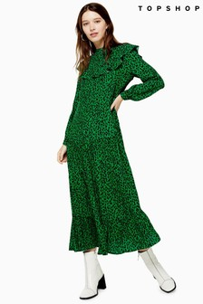 Topshop Yoke Chuckon Midi Dress