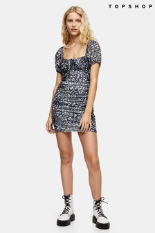 Topshop Gypsy Mesh Ruch Dress
