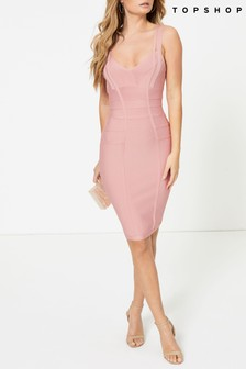 Topshop Funnel Bandage Mini Dress