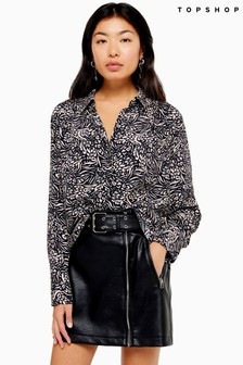 Topshop Animal Mensy Longer Shirt