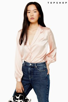 Topshop Plain Scallop Shirt