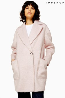 Topshop Double-Breasted Coat