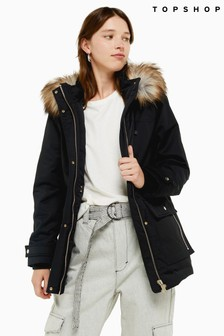 Topshop Hooded Parka Jacket