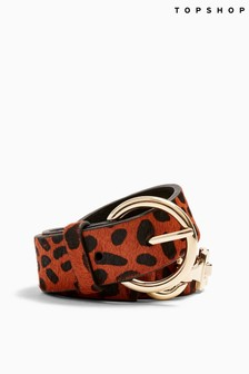 Topshop Leopard Print Link Belt