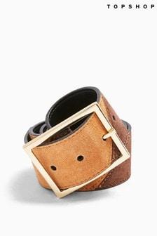 Topshop Leather Wide Belt