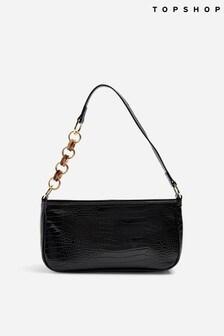 Topshop Spin Crocodile Shoulder Bag