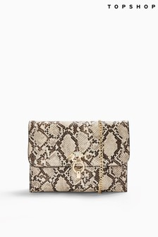 Topshop Snake Clutch Bag