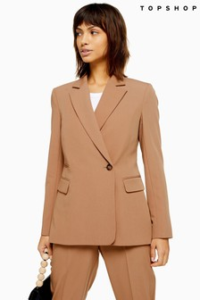 Topshop Suit Double Breasted Blazer