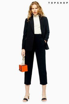 Topshop Smart Buckle Peg Trousers