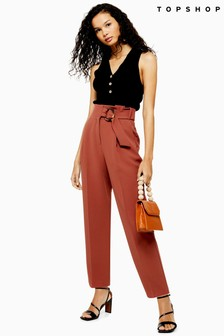Topshop Belt Peg Trousers