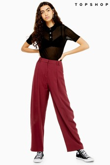 Topshop High Waist Slouch Trousers