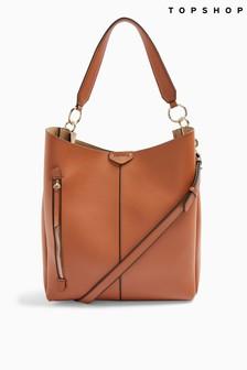 Topshop Hugo Zip Hobo Bag