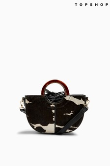 Topshop Shelby Cow Grab Bag