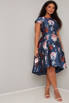 Chi Chi London Curve Printed Skater Dress