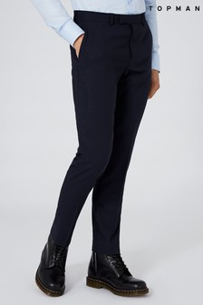Topman Textured Skinny Fit Trousers