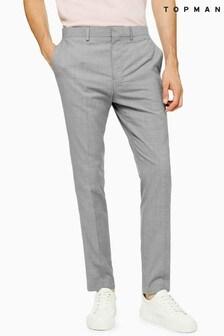 Topman Marl Skinny Fit Trousers