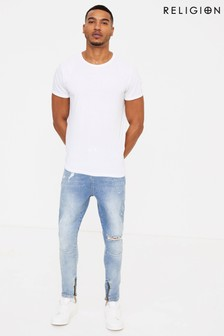 Religion Distressed Skinny Jeans