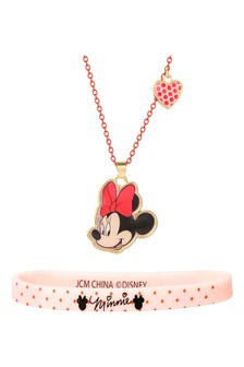 Disney Minnie Costume Childrens Necklace  Bracelet Set