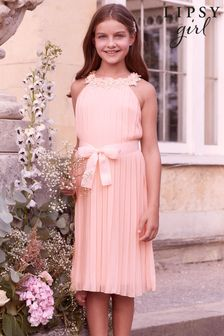 Lipsy Girl Pleated Chiffon Occasion Dress