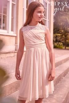 Okrašena čipkasta obleka za posebne priložnosti Lipsy Girl