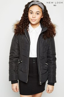 New Look Girls Dolly Fitted Padded Jacket