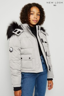 New Look Girls Melbourne Crop Ski Padded Jacket