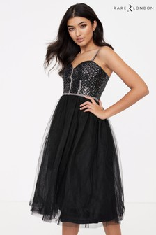 Rare Diamante Strap Sequin Tutu Dress