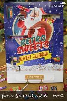 Personalised Retro Sweets Advent Calendar By Great Gifts
