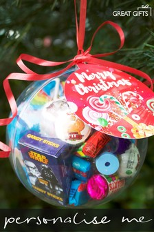Personalised Christmas Sweetie Bauble By Great Gifts