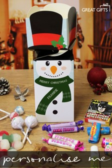 Personalised Snowman Sweetie Box By Great Gifts