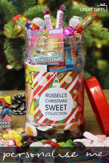 Personalised Christmas Sweet Jar By Great Gifts