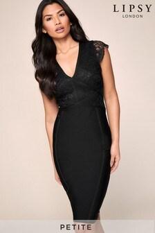 Lipsy Petite Lace Top Bandage Dress